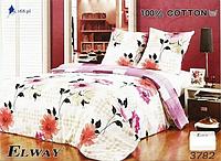 Сатиновое постельное белье полуторка ELWAY 3782