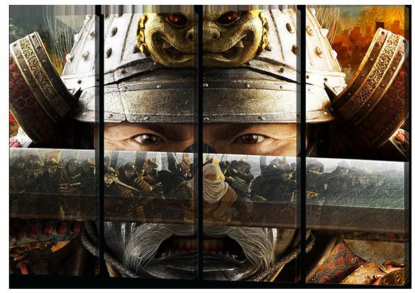 Модульная картина Interno Эко кожа Самурайм104х73см (A509М)