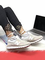 Женские кроссовки New Balance 574 Grey. Натуральная кожа, фото 1