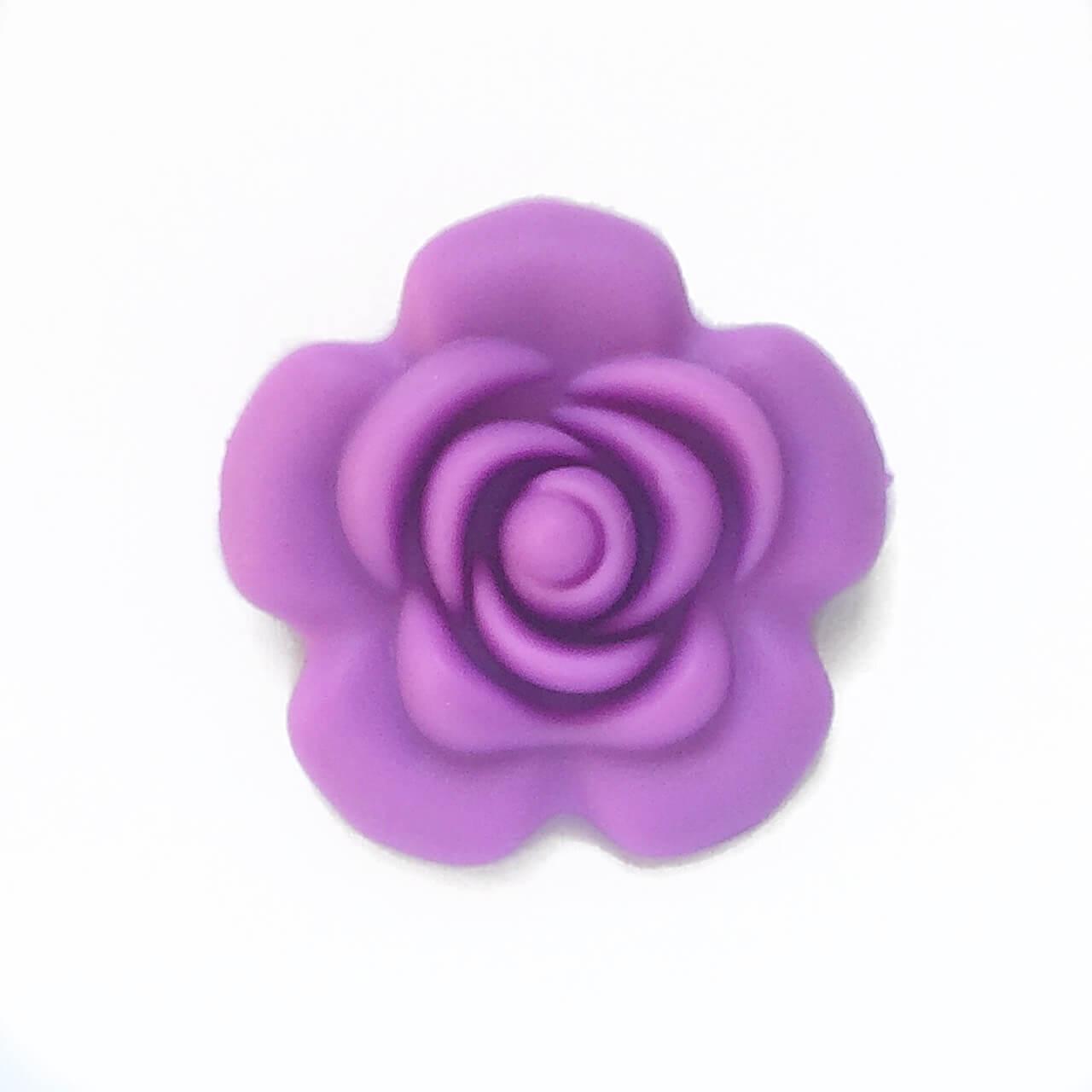 Роза большая (сирень), силиконовые бусины