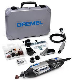Универсальный инструмент Dremel 4000 + 65 насадок + 4 приспособления + чемодан (F0134000JH)