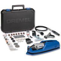 Универсальный инструмент Dremel 4000 + 65 насадок + 4 приспособления + чемодан + подставка (F0134000JT)