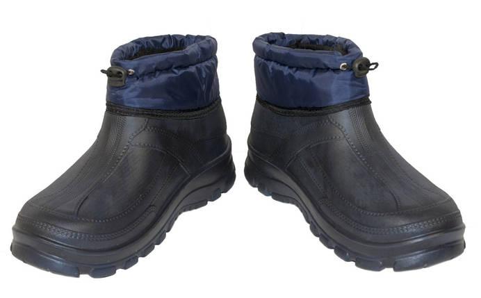 Галоши ЭВА (пена) VR мужские Манжет МЕХ темно-синие, фото 2