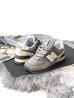 Женские кроссовки New Balance 574. Серые. Натуральная кожа, фото 1