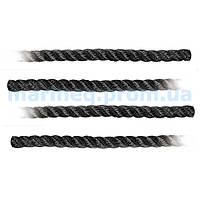 Шнур швартовый, чёрный, Ø 14 мм