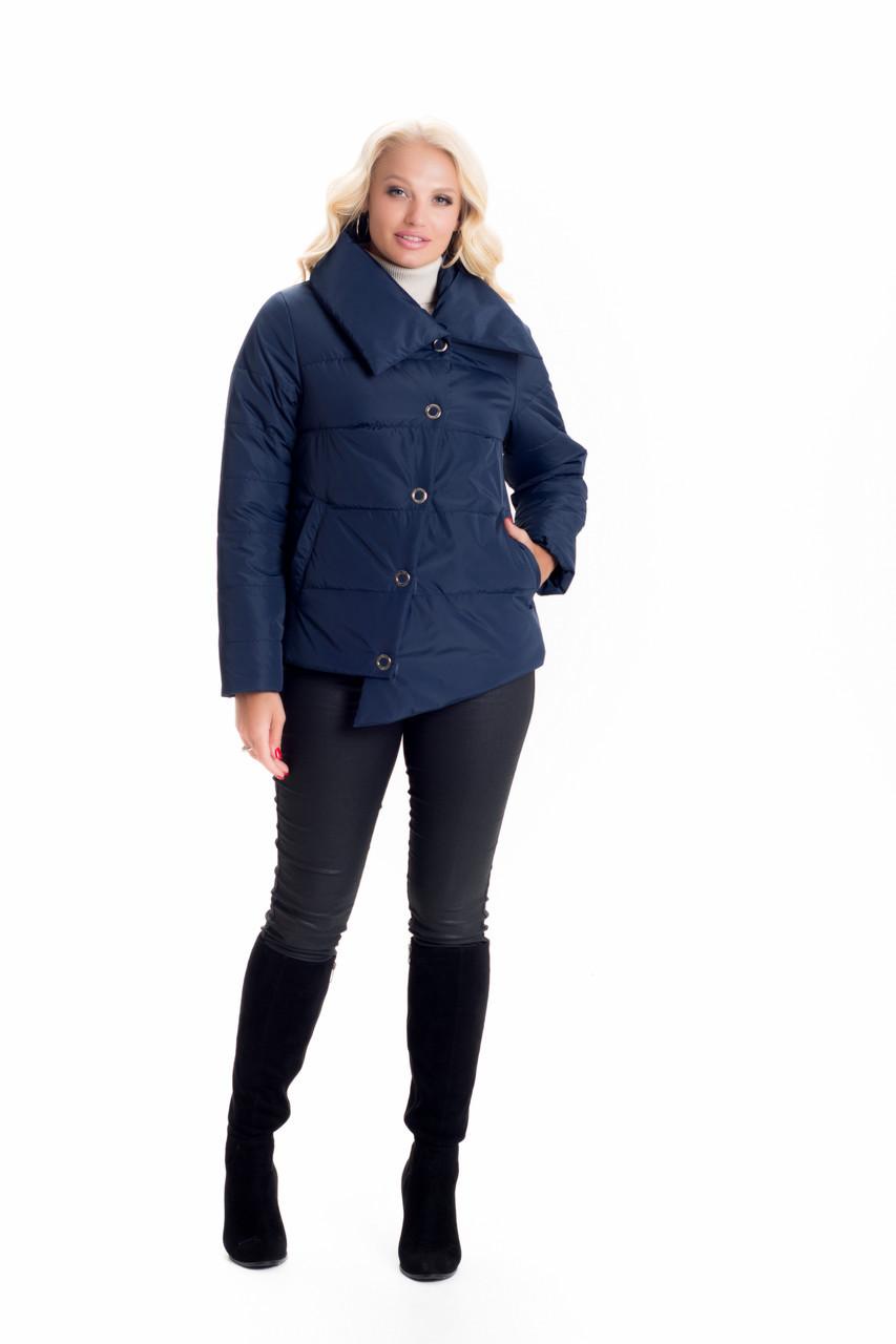 Демисезонная женская асимметричная куртка