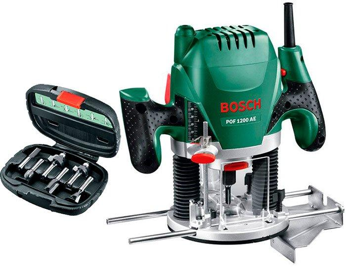 Фрезер Bosch POF 1200 AE + набор фрези (060326A101)
