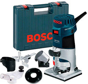 Фрезер для обробки країв Bosch GKF 600 KIT + набір оснастки + валіза (060160A101)