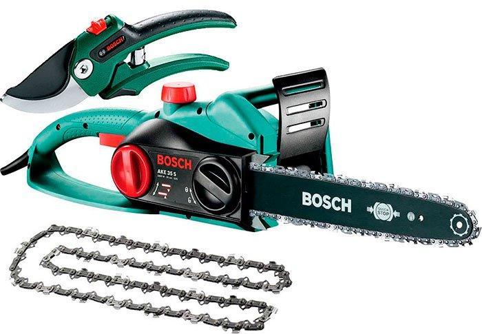 Цепная пила Bosch AKE 30 S + секатор (060083450F)