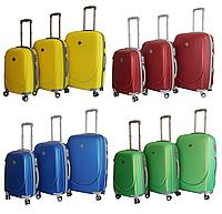 Набор чемоданов Bonro Smile пластиковых с двойными колесами 3 шт, фото 1