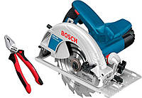 Циркулярная пила Bosch GKS 190 c плоскогубцами Wiha (0615990K33)