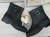 Модные резиновые  сапоги ботинки женские акционное предложение