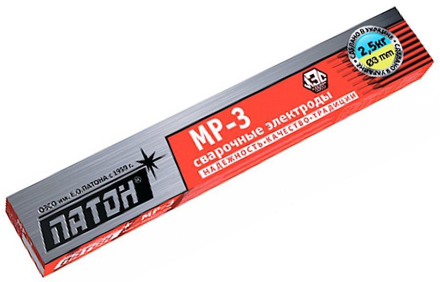 Электроды Патон МР-3 Classic 3 мм, 2,5 кг