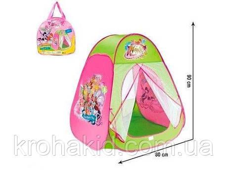 Палатка детская Винкс 815S, рамером 80х90х80 см, в сумке, фото 2