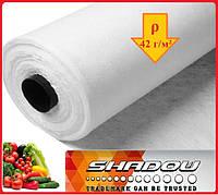 """Агроволокно 4%, Р-42 г/м²,ширина 1,6, длина рулона 100 м.""""Shadow"""" (белое), фото 1"""