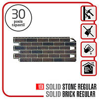 Цокольный сайдинг. Фасадная панель VOX Solid Brick YORK 1,0х0,42 м