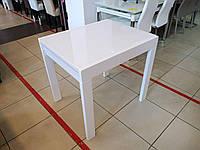 Стол обеденный СЛАЙДЕР белый/ стекло БЕЛОЕ 81,5(+81,5)х67см