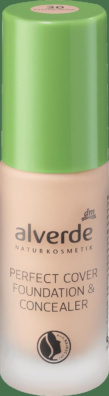 Тональный крем alverde NATURKOSMETIK Perfect Cover Foundation & Concealer Champagne № 30, 20 мл.