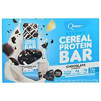 Quest Nutrition, Протеиновый батончик Beyond Cereal, шоколад, 15 батончиков, 1,34 унц. (38 г) каждый.