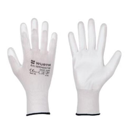 Перчатки сборщика White Touch Сomfort Wurth