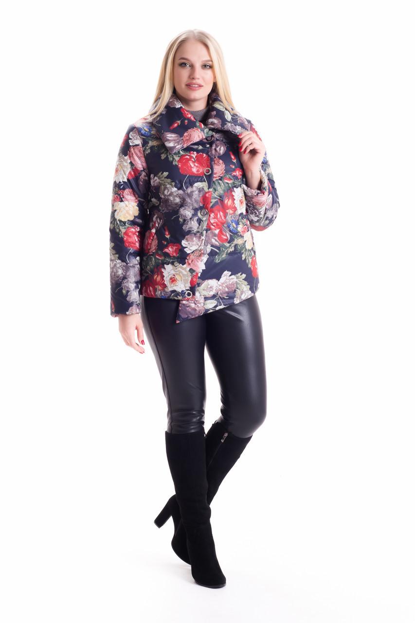 Асимметричная куртка с цветочным принтом