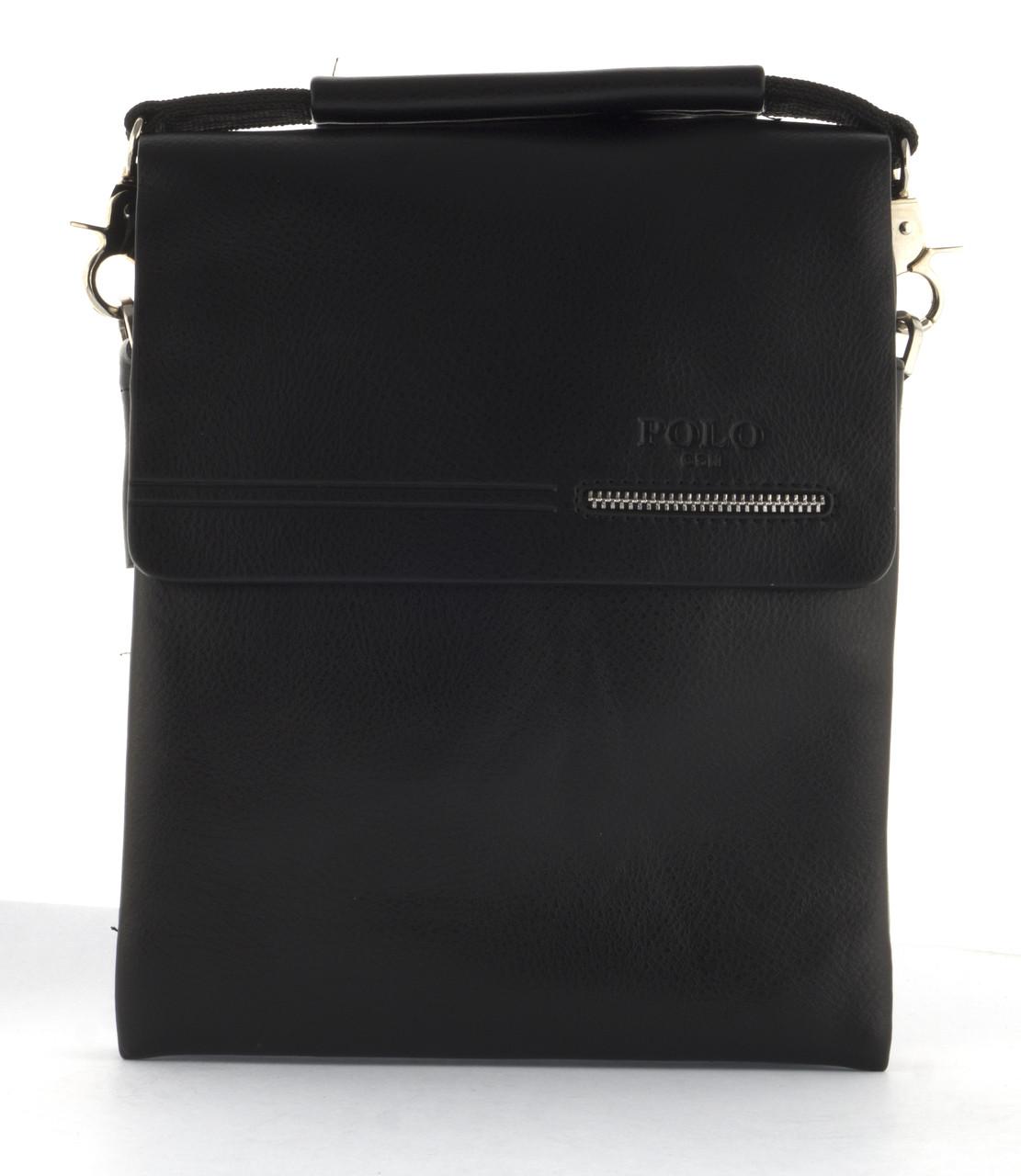 Удобная мужская стильная прочная сумка из качественно PU кожи POLO art. B332-2