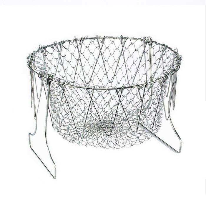Распродажа! Дуршлаг Magic Kitchen Deluxe Chef Basket, складной дуршлаг фритюрница- доставка