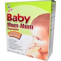 Hot Kid, Baby Mum-Mum овощные рисовые сухари, 24 сухаря, 50 г каждый