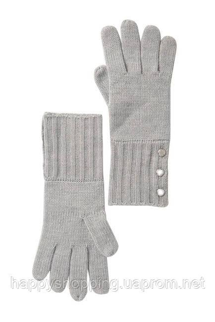 Женские оригинальные серые перчатки популярного бренда Michael Kors