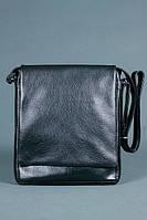 Стильная черная мужская сумка без вышивки