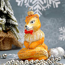 Набор стеклянных елочных игрушек Лиса и гриб Irena , фото 3