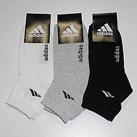 Женские носки с надписью Adidas - 7.00 грн./пара (светлое ассорти), фото 1