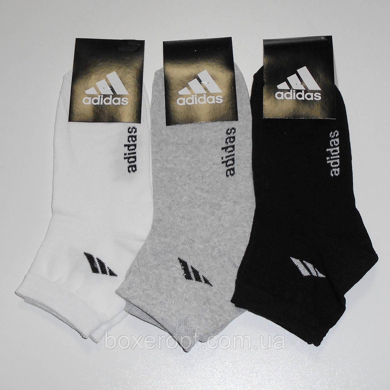 Женские носки с надписью Adidas - 7.00 грн./пара (светлое ассорти)