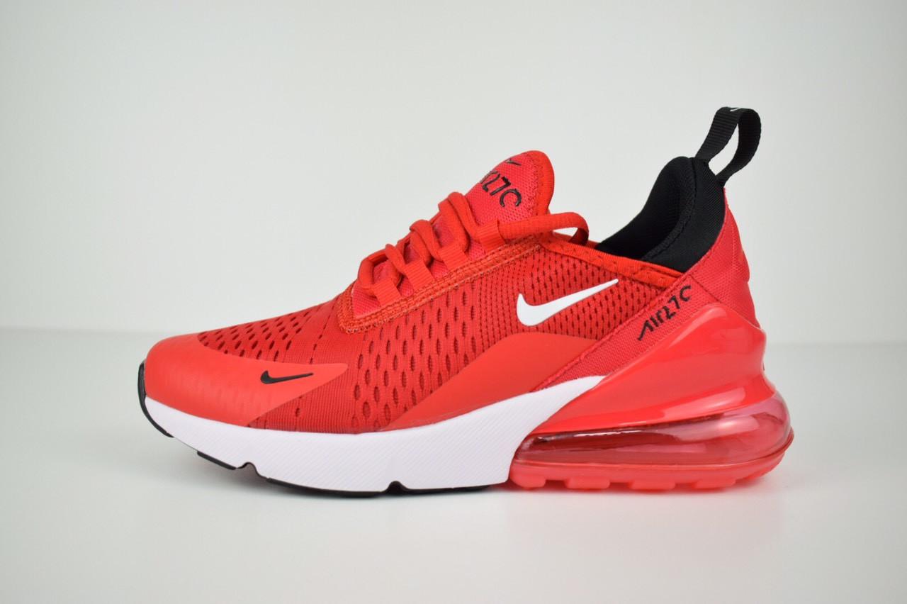 e4143ef6 Кроссовки женские красные на белой подошве Nike Air Max 270 топ реплика -  Интернет-магазин