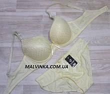 Комплект жіночої білизни FNISS 85С шампань арт 15530. 85С+труси XL