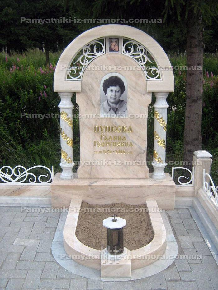 Надгробие с голубем из мрамора №57