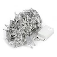 🔝 Светодиодная гирлянда Бахрома 120 LED 2.3 метра, подсветка - белая, для свадьбы или Нового Года | 🎁%🚚, фото 1