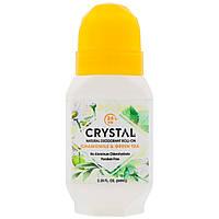 Crystal Body Deodorant, Натуральный шариковый дезодорант, ромашка & зеленый чай, 2,25 ж. унц. (66 мл)