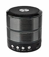 🔝 Портативная колонка, для телефона, WS-887 Mini Speaker, с флешкой и радио Чёрная| 🎁%🚚