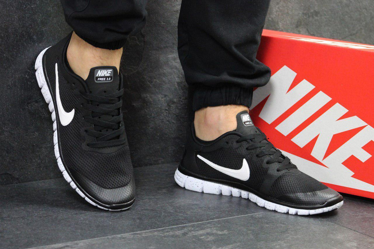 22476234 👣 Кроссовки Мужские Nike Free 3.0 (Черно/Белые) Реплика 💯 Лучшей ...