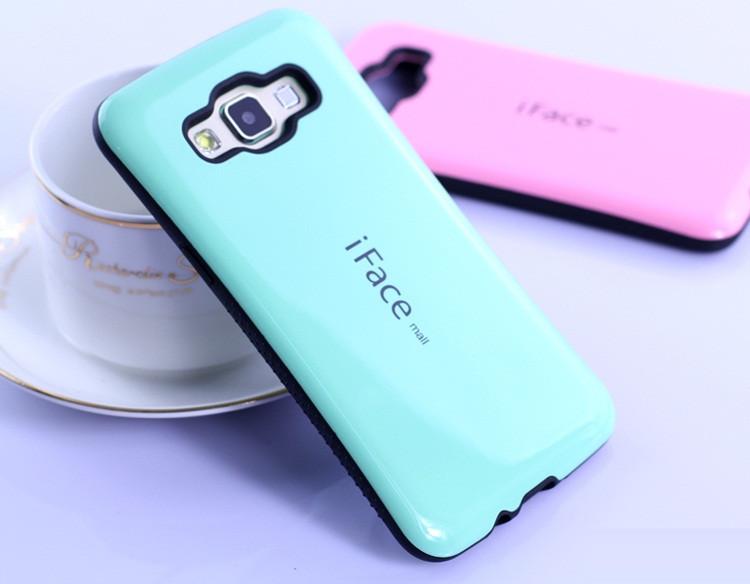 """Samsung A7 A700 GALAXY Оригинальный противоударный чехол накладка бампер панель для телефона """"iFACE"""""""