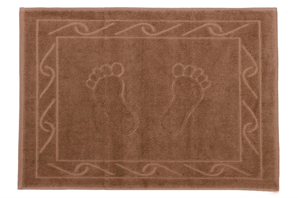 Полотенце махровое для ног HOBBY 50х70 Hayal коричневый 1шт