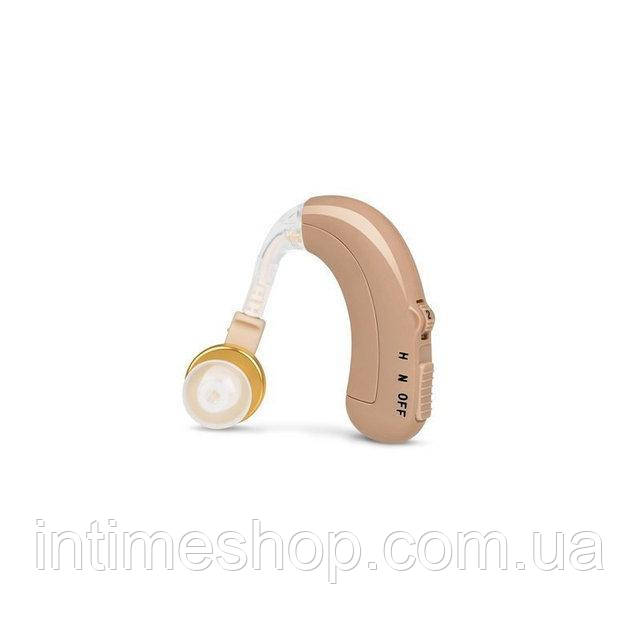 🔝 Заушный аккумуляторный слуховой аппарат Axon C-109 (с зарядным устройством), доставка по Киеву и Украине | 🎁%🚚, фото 1