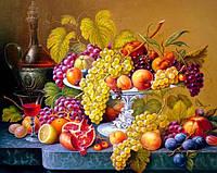 Алмазная вышивка натюрморт, фрукты 30х40 см, полная выкладка, квадратные стразы