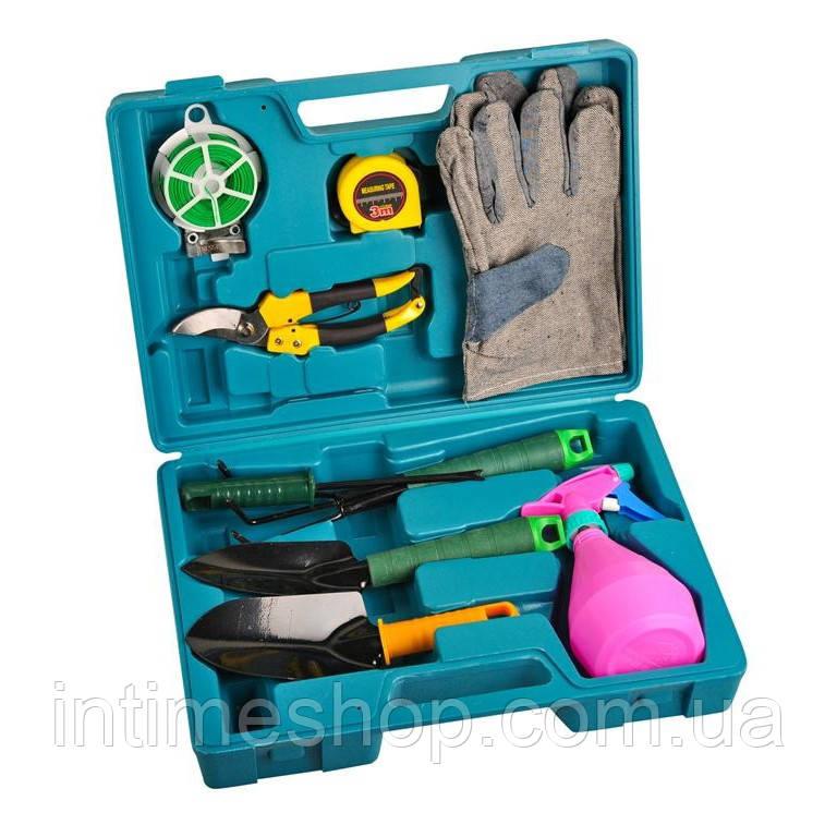 🔝 Набор садовых инструментов, 9 предметов, в чемодане, (доставка по Украине) | 🎁%🚚