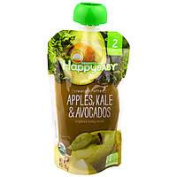 Nurture Inc. (Happy Baby), Органическое детское питание, 2-й этап, 6+ месяцев, яблоко, капуста и авокадо, 4,0 унции(113 г)