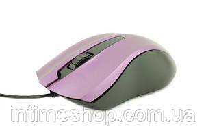 🔝 Мышка для ноутбука, проводная, Counter Attack, оптическая, цвет - сиреневый | 🎁%🚚