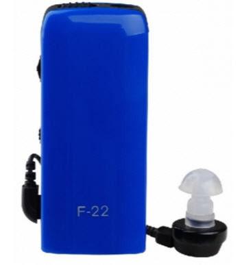 Внутриушной карманный слуховой аппарат Axon F-22, цвет - синий, с доставкой по Киеву и Украине