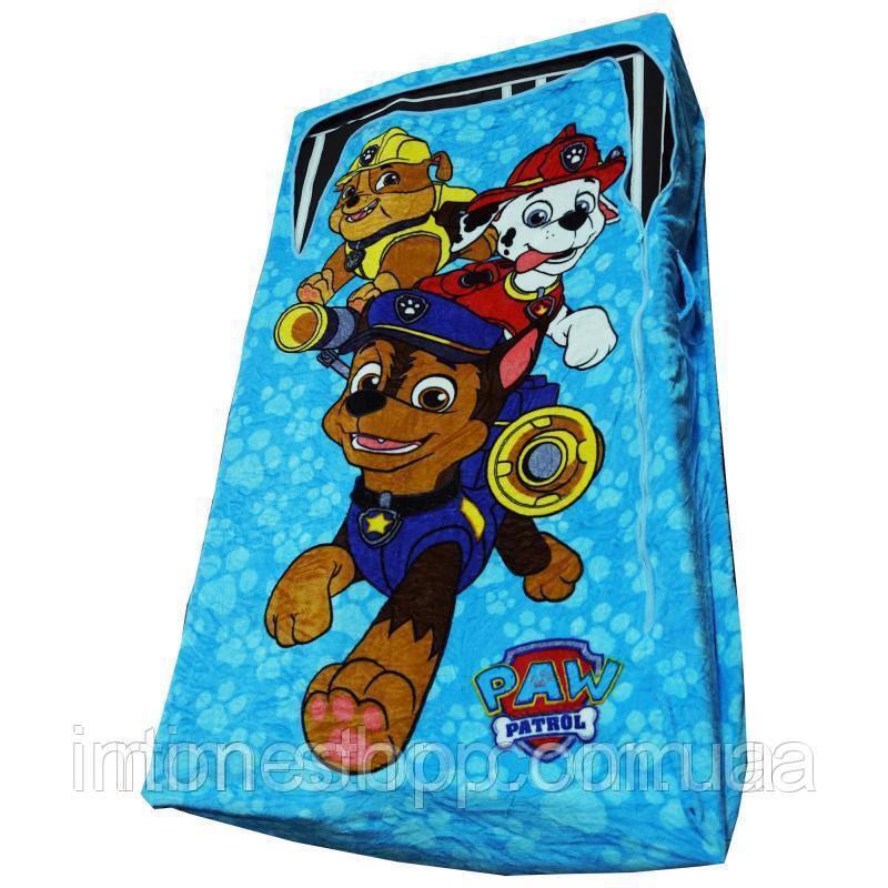 🔝 Детская постель, покрывало на кровать, ZippySack - Голубой с патрулем   🎁%🚚
