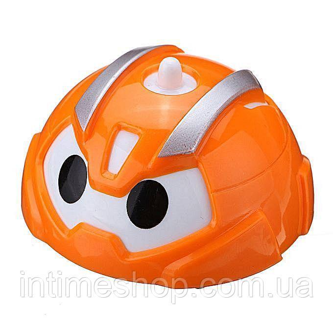 🔝 Игрушечные машинки, гирокар, Gyro Car, в пластиковом яйце - оранжевый корпус | 🎁%🚚